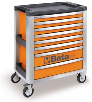 Beta C39 O/8 Mobile Roller Cab With Eight Drawers (Orange)